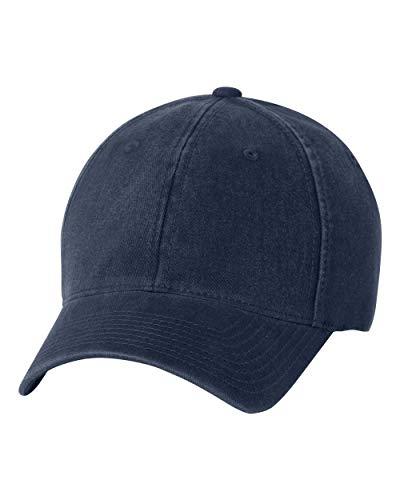 Flexfit Low Profile Garment Washed Cotton Cap (Navy, Small/Medium / 6 3/4-7 1/4)