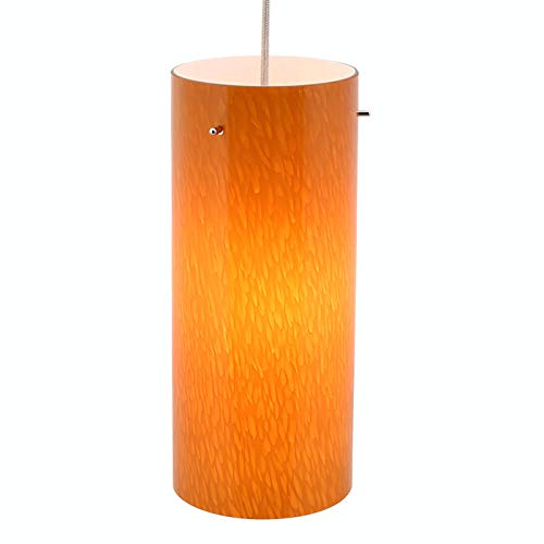 - Direct-Lighting DPN-49319-AM 1-Light 5-inch Wide Mini Pendant Light, Amber Glass Shade