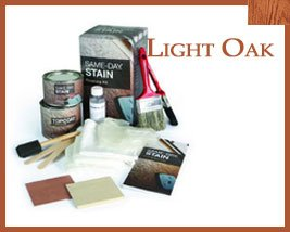 Stain Kit Light Oak Fiberglass Door Finishing Kit
