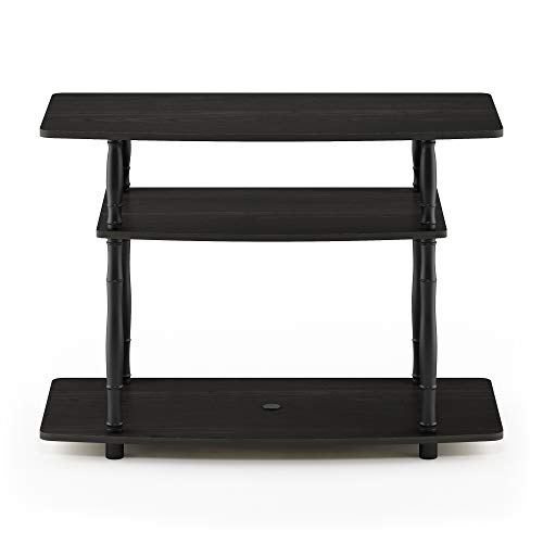 Furinno 18113EX/BK Turn-N Tools 3-Tier TV Stand with Classic Tubes, Espresso/Black