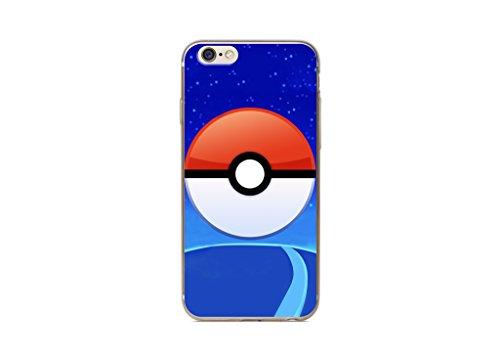 iPhone 5/5s Pokemon Estuche de Silicona / Cubierta de Gel para Apple iPhone 5s 5 SE / Protector de Pantalla y Paño / iCHOOSE / Team Instinct Pokeball