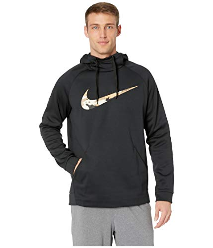 NIKE Men's Therma Pullover Hoodie Black ()