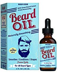 Price comparison product image Man Code Beard Oil Naturally Smoothing,  Soothes,  Conditions,  Shapes & Styling for all Beard Types 2oz / 60ml