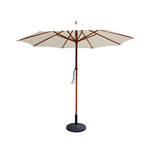 Cheap 9ft. Wood Market Umbrella (Tan)
