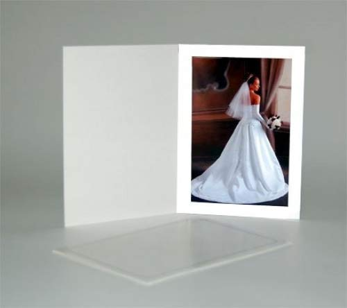 (shopwise2000 New Cardboard Photo Folder for a 5x7 Photo - White Stock - Pack of 100)