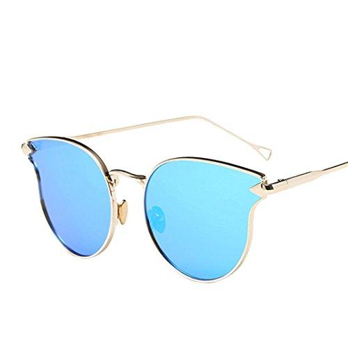 Lunettes de Soleil 2018 Ansenesna Lunettes de soleil Premium Retroviseur Full Retroviseur Aviator avec protection UV400 Bleu