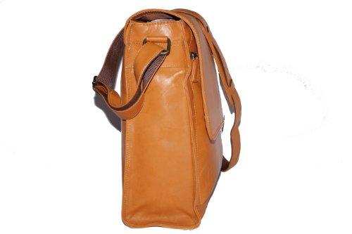 Yale'' - Borsa Lavoro by LEAS, Vera Pelle, beige - ''LEAS Classic Bags''