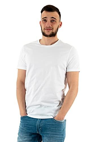 Levi's Slim 2pk Crewneck 1 Camiseta, Blanco (Two-Pack tee White + White 0000), X-Large para Hombre