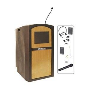 AmpliVox - SW3250-MP/S1605 - Lectern w/Sound, Maple, (S1605 Lectern)