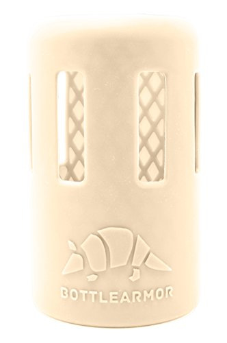 BottleArmor Protective Silicone Sleeve for Hydro Flask Water Bottles with DropShield Technology (Cream, 12 oz)