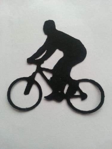 RJK Crafts Silhouette Cuts 10 x Man Boy Bike Bicicleta Silueta ...
