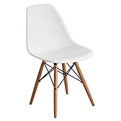 Pleasing Amazon Com Plastic Dining Chair With Wood Legs Dining Bralicious Painted Fabric Chair Ideas Braliciousco