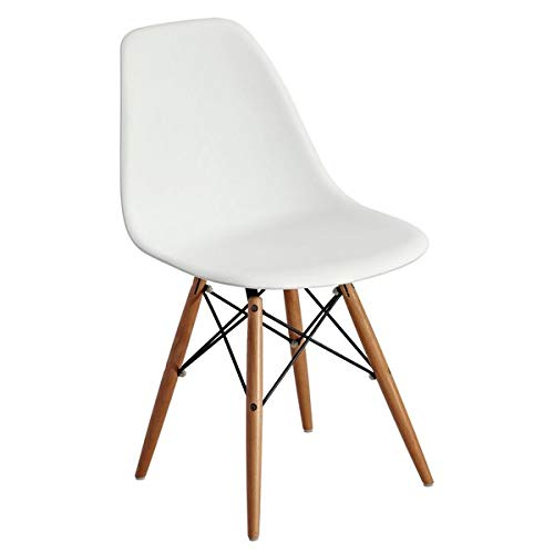 Strange Amazon Com Plastic Dining Chair With Wood Legs Dining Bralicious Painted Fabric Chair Ideas Braliciousco