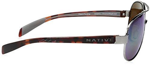 Tort de gafas polarizadas Haskill Chrome Nativo Maple sol gafas 4Hw7HqZ