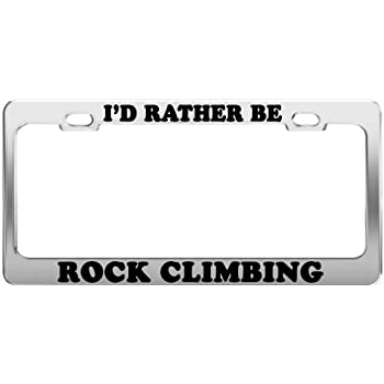 RATHER BE PLAYING SOCCER Metal License Plate Frame Tag Holder Two Holes