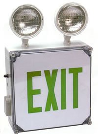 Lightworld Indoor Or Outdoor Wet Location Exit Sign And Emergency Light With Battery Backup