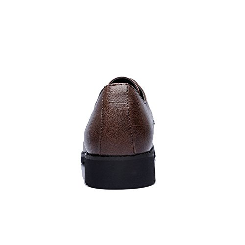 Lace Cuir Marron Marron Classique Color PU EU 2018 Low Up Carrée Texture Taille Foncé Up en Homme Richelieus Hommes Chaussures Mocassins Top Oxfords Business 48 qFF0wgzH