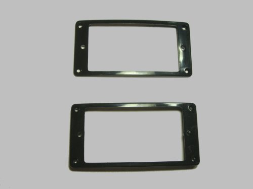- MIJ Pickup Rings for Humbucker Arched-Top Set black fa-pur-at2-blk
