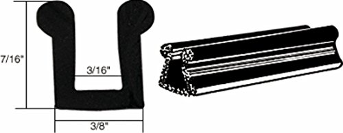 - C.R. LAURENCE AV4516 CRL Glass and Acrylic Setting Rubber Channel 3/16