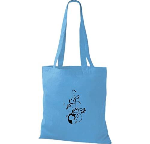 Surf Shirtinstyle Algodón De Blue Tela Bolso Para Mujer aaqFYfx