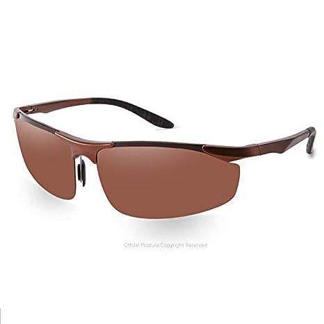 Gafas Deportivas Hombre,Gafas de Sol polarizadas del Sol del,Espejo del magnesio de
