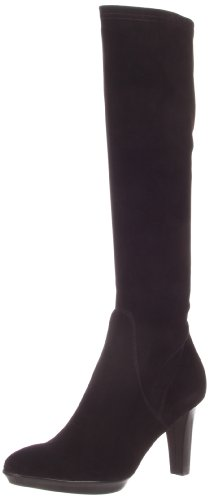 Aquatalia Women's Rhumba Boot,Black Stretch Nappa Suede,10 B US