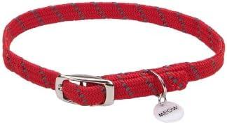Coastal Pet Products ElastaCat Pet Collar, Rojo, Ajustable