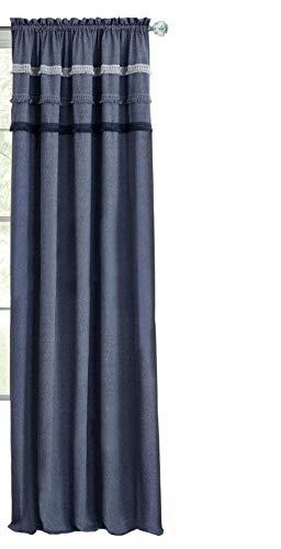 - Ben & Jonah PrimeHome Collection Jean Rod Pocket Window Curtain Panel-52x63-Blue, Blue