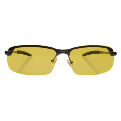 Aoron® POLARIZED Day and Night Vision Driving Glasses 3043N (Gray frame Yellow lens)