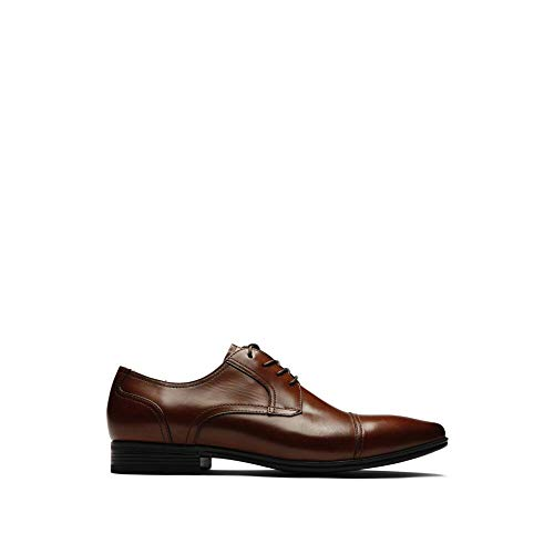 Kenneth Cole REACTION Deter-Min-Ed Leather Cap-Toe Oxford Cognac