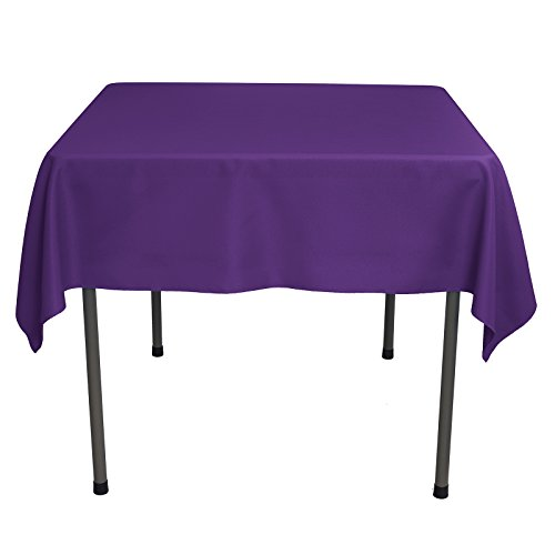 Remedios Square Tablecloth 54 inch Polyester Table Cover for Wedding Restaurant Party Banquet Decoration, Purple