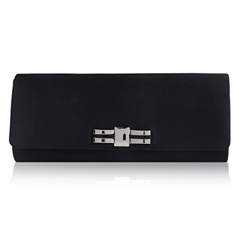 Clutch Black Party Elegant Damara Simple Evening Bag Smooth Womens wRpqTIa