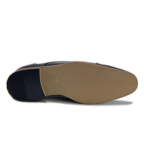 Jaime Aldo Mens Vw131 Scarpe Semitrasparenti Scarpe Oxford Nere Con Punta Traforata