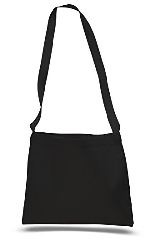 Custom Halloween Tote Bags (Cross Body Canvas Totes Small Messenger Tote Bags Long Shoulder Straps (Set of 1, Black))