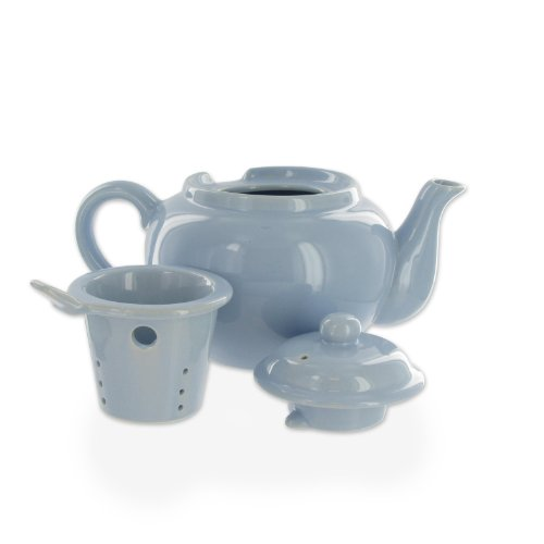 2 cup teapot with infuser basket - 5