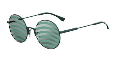 FEN Metal Oval Sunglasses 53 01ED Green XR lens