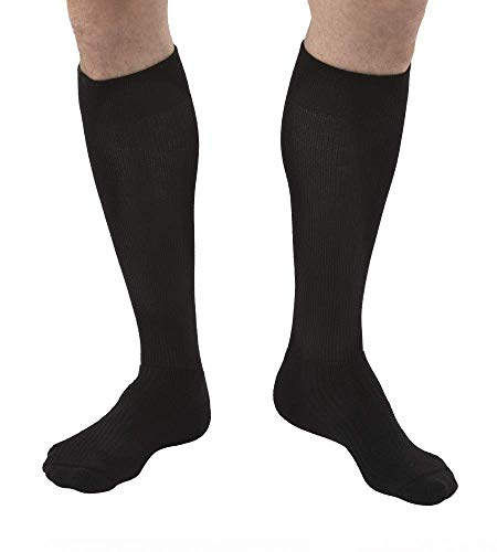 JOBST Activewear 20-30 mmHg Knee High Compression Socks, Small, Cool Black ()