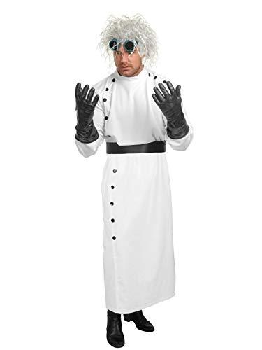 Charades Men's Mad Scientist Costume Set, White, -