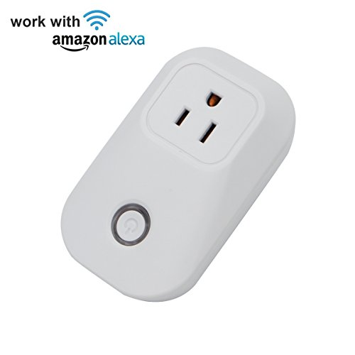 Sonoff S20 Wi-Fi Smart Plug Works with Amazon Echo Alexa, Electrical Outlet Switch Wireless Remote Control Your Home Appliances with Timing Functions from Anywhere US Standard