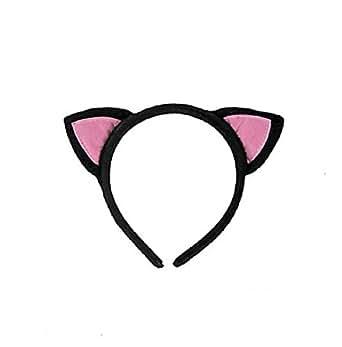 Polyester Black Cat Ears Headband