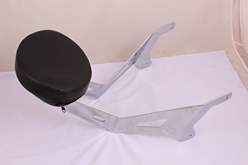 (Y49 Fixed Mount Short Chrome BACKREST Upright & Custom PAD for Yamaha Star Stryker)