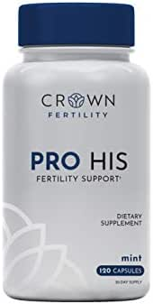 Crown Fertility PRO HIS. Male Fertility Supplement to Help Aid in Sperm Count & Quality. (120 Capsules) - Packaging May Vary