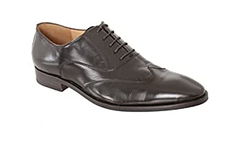 Sutor Mantellassi 11 1/2 Brown Leather Wingtip Oxford Balmoral Lace Up Dress Shoes B01BJAT2LC