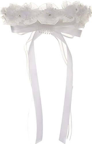 Flower Girl Veil Holy Communion & Wedding Crown Veil Collection White FC102