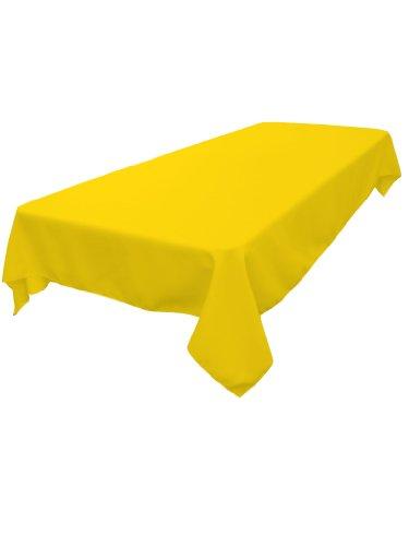 LinenTablecloth 60 x 102-Inch Rectangular Polyester Tablecloth Lemon