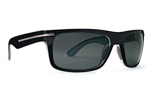 Kaenon Mens Polarized Burnet Sunglasses (Blackwash, Grey 12)