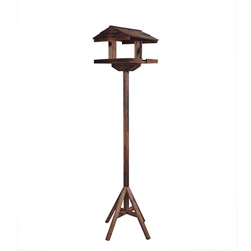 Premium High Wooden Bird Table, Garden Birds Feeder Feeding Station Free Standing Strong and Durable Ideal for All Types