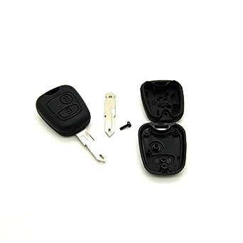 Carcasa para llave con telemando para Peugeot 106, 206, 306, incluye llave virgen: Amazon.es: Juguetes y juegos