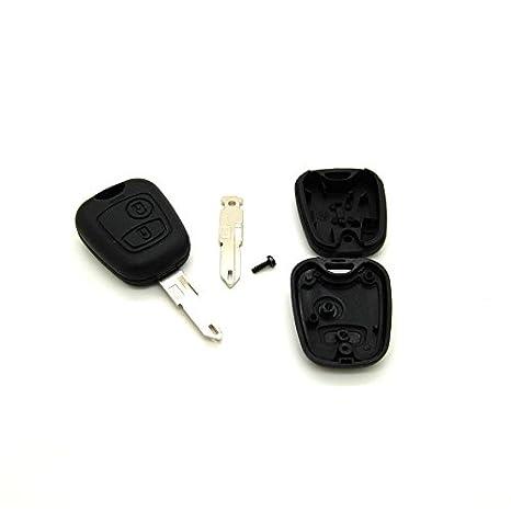 Carcasa para llave con telemando para Peugeot 106, 206, 306 ...