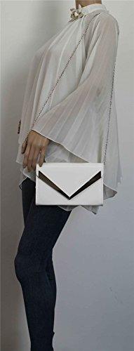 SwankySwans Envelope White Womens Clutch Patent Rita 8OrwOn70q